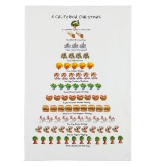 A California Christmas Print Kitchen Towel