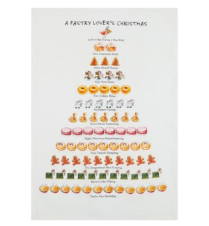 A Pastry Lover's Christmas Print Kitchen Towel
