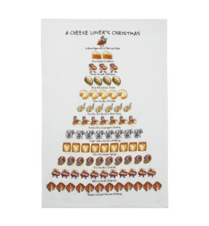 A Cheese Lover's Christmas Print Kitchen Towel