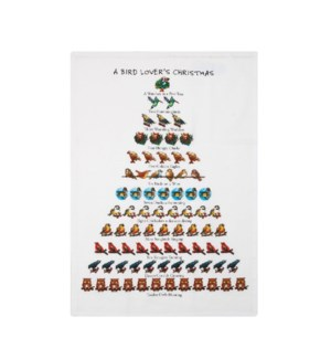A Bird Lover's Christmas Print Kitchen Towel