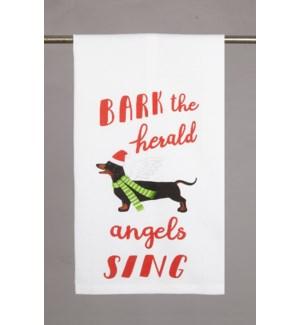 Bark the Herald Angels Sing Print Kitchen Towel