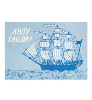 AHOY SAILOR HOOK RUG 2X3'