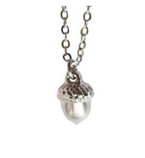 Acorn Necklace - Silver