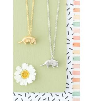 Armadillo Necklace - Silver