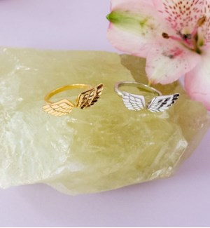 Angel Wing Ring - Silver