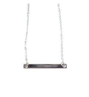 Bar Necklace - Silver