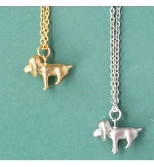 Beagle Necklace - Silver
