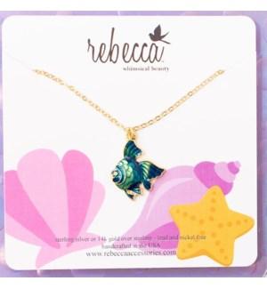 Blue Fish Necklace - Children's