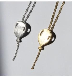 Balloon Necklace - Silver