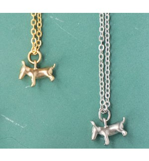 Bull Terrier Necklace - Gold
