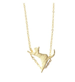 Climbing Cat Necklace - Gold