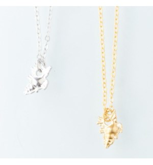 Conch Shell Necklace - Gold