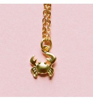 Crab Mini Necklace - Gold