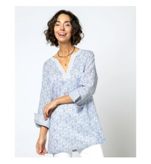 Arabella Blue bluCotton Kurta Tunic-L AVAIL 2/25