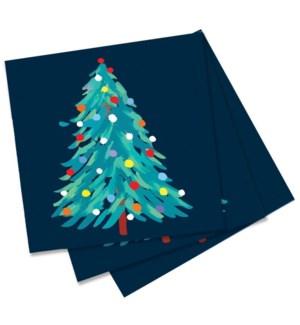 Abstract Christmas Paper Napkin