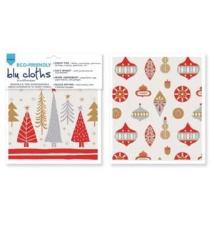 Alpine Ornaments Blu Cloth Set 2