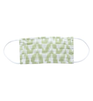 Alps Green Pleated Cotton Mask