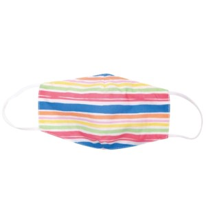 Beach Stripes Blu Reusable Ctn Kids Mask