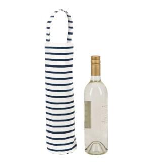 Bateau Stripe Navy Wine Tote