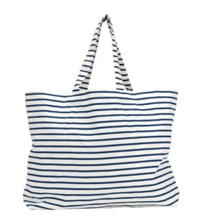 Bateau Stripe Navy Canvas Slouch