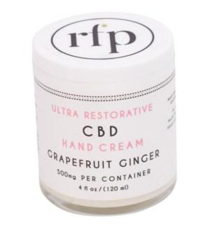 CBD Hand Cream (4 oz) Grapefruit 500mg