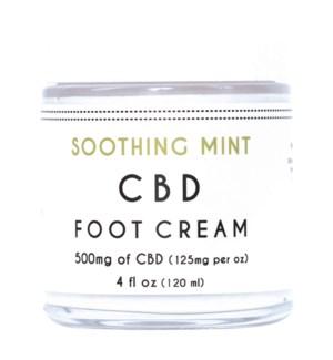 CBD Foot Cream (4 oz) Mint 500mg