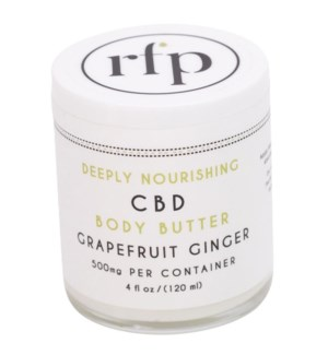 CBD Body Butter (4 oz) Grapefruit 500mg