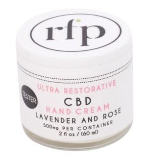 CBD HandCream 2 oz tester 500mg Lavender