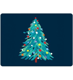 Abstract Christmas Tree Placemat Set 4