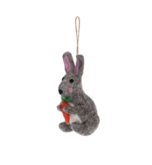 Bauble Decoration - Felt - Hare