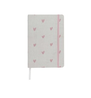 A5 Fabric Notebook - Hearts