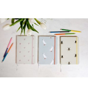 A5 Fabric Notebook - Bees