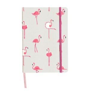 A5 Fabric Notebook - Flamingos