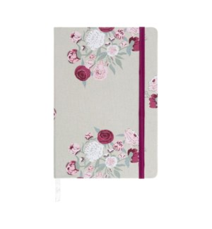 A5 Fabric Notebook - Peony