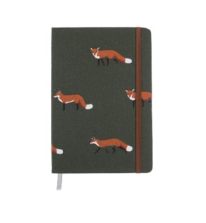 A5 Fabric Notebook - Foxes
