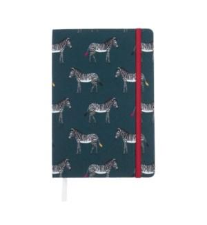 A5 Fabric Notebook - ZSL - Zebra