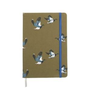 A5 Fabric Notebook - Ducks