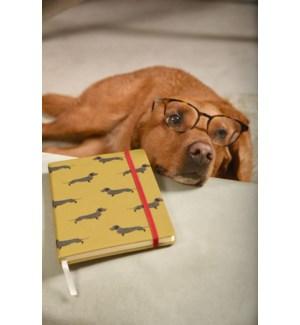 A5 Fabric Notebook - Fetch (Dachshund)