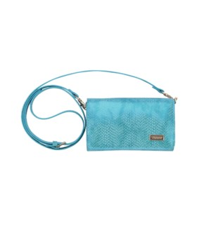 Havana Blue Brittany Crossbody Wallet