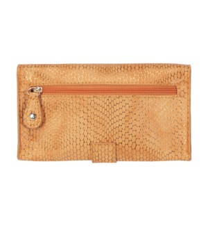 Havana Orange Jane Wristlet Phone Wallet