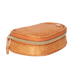 Havana Orange Steph Small Jewelry Case