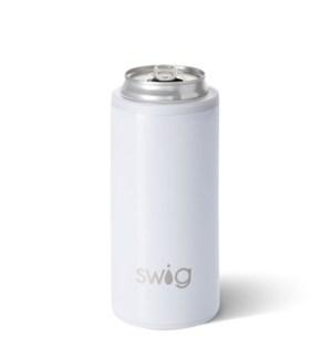 Swig 12oz Skinny Can Cooler-Diamond White