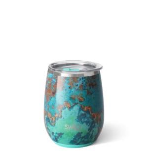 Copper Patina Stemless Wine Cup (14oz)
