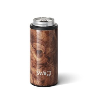 Swig 12oz Skinny Can Cooler-Black Walnut