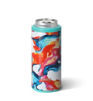 Color Swirl Skinny Can Cooler (12oz)