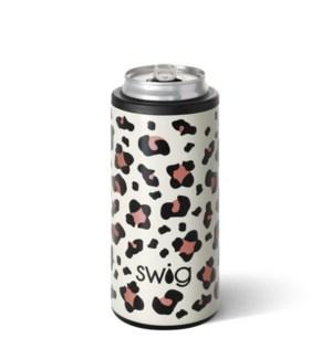 Swig 12oz Skinny Can Cooler-Luxy Leopard