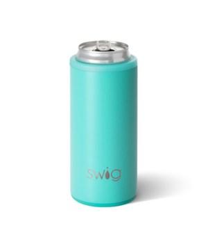 Swig 12oz Skinny Can Cooler-Matte Aqua