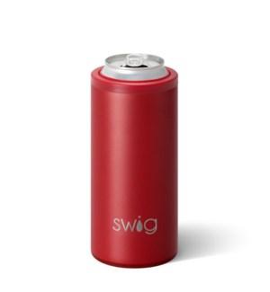 Swig 12oz Skinny Can Cooler-Matte Crimson