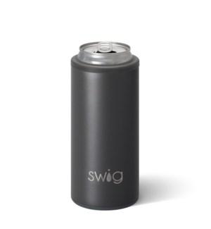Swig 12oz Skinny Can Cooler-Matte Grey