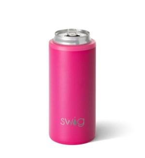 Swig 12oz Skinny Can Cooler-Matte Hot Pink